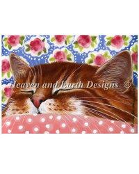 クロスステッチ刺繍図案HeavenAndEarthDesignsピンクの毛布IrinaGarmashova全面刺しQSPinkBlanket