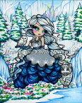 クロスステッチ図案 刺繍 HAED 手芸 上級者 Hannah Lynn 【アイス・プリンセス】 Ice Princess