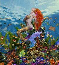 HeavenAndEarthDesignsクロスステッチ図案チャート【マーメイド・リーフ】MermaidReef