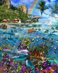 HeavenAndEarthDesignsクロスステッチ図案チャート【トロピカル・トレジャー】TropicalTreasures
