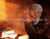 HAED クロスステッチ刺しゅうチャート Heaven And Earth Designs 図案 【Let Us Give Prayer】 Eric Enstrom