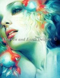 HeavenAndEarthDesigns(HAED)クロスステッチ刺繍図案輸入金魚ランチュウScale全面刺し上級者