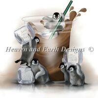 HeavenAndEarthDesigns(HAED)クロスステッチ刺繍図案輸入ペンギンSmilesinMyCup上級者