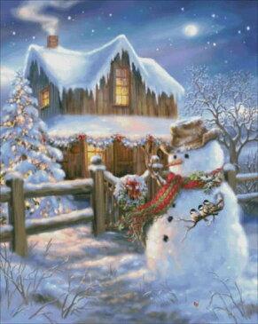 クロスステッチ刺繍 図案 輸入 Heaven And Earth Designs (HAED) ウッドハウス・クリスマス Woodhouse Christmas 全面刺し 上級者