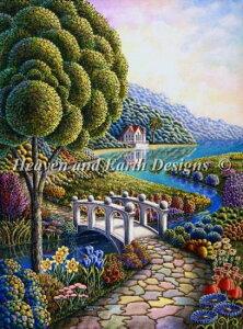 クロスステッチ刺繍 図案 HAED Heaven And Earth Designs 輸入 Andy Russell 水仙 Dafodils 全面刺し 上級者