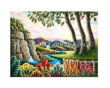 クロスステッチ刺繍 図案 HAED Heaven And Earth Designs 輸入 Andy Russell 夢の河 River of Dreams 全面刺し 上級者