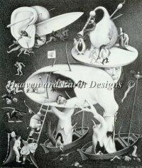 HieronymusBosch/MauritsCornelisEscher(ヒエロニムス・ボス/マウリッツ・コルネリス・エッシャー)名画【地獄-Hell-】美術絵画芸術作品HAEDクロスステッチ刺しゅう図案HeavenAndEarthDesigns輸入チャート