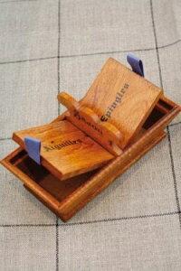 Sajou木製ボックスPetitpanierderangementpouraiguillesetépingles保管収納ケースフランスメゾンサジューBOIS_PAN_AIG_EPI