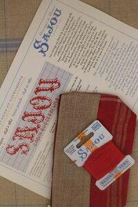 【DM便対応】Sajou半製品クロスステッチKitdepointdecroix:trousseenlinSajoude1848à1882キットポーチサジューフランスメゾンサジュー