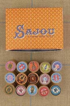 Sajou ボビン Boîte de 15 bobines en bois miniatures étiquetées 木製 糸巻き サジュー フランス メゾンサジュー BOIS_BOB_002_15