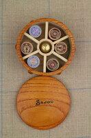 【DM便対応】SajouボビンBoîtede15bobinesenboisminiaturesétiquetées木製糸巻きサジューフランスメゾンサジューBOIS_BOB_002_15