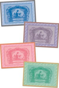 【DM便対応】Sajouポストカード(4枚組)QuatrecartespostalesBrodeuseSajou葉書サジューフランスメゾンサジューグリーティングカードCP_004_BROD