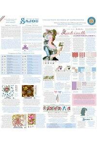 Sajouクロスステッチ刺繍キットマリーアントワネットKitdepointdecroix:Marie-Antoinetteフランスメゾンサジュー輸入上級者KIT_PDC_MUP_VERS_02