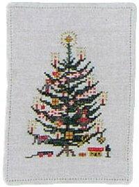 フレメクロスステッチ輸入刺しゅうキットChristmastreemedflagフラグとクリスマスツリーHaandarbejdetsFremmeデンマーク刺繍北欧10BRA初心者30-5824
