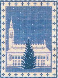 クロスステッチ刺繍キットフレメ輸入Christmastreeintownsquare町の広場のクリスマスツリーHaandarbejdetsFremmeデンマーク北欧刺しゅう12BGB上級者30-3477