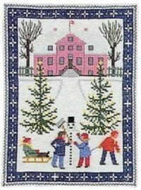 フレメクロスステッチ刺繍キット輸入Legisne雪の中で遊ぶクリスマスHaandarbejdetsFremmeデンマーク北欧12BGB上級者30-4653