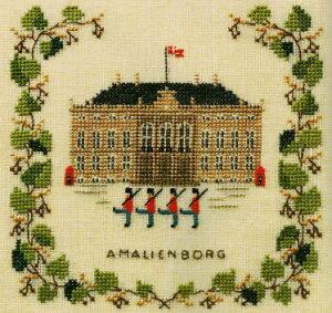 【DM便対応】フレメ Amalienborg アマリエンボー宮殿 12B クロスステッチ Haandarbejdets Fremme キット デンマーク 刺しゅう 北欧 ギルド HF 17-5135