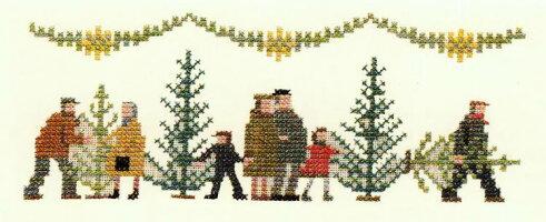 フレメクリスマスモチーフクロスステッチ刺繍キット輸入デンマーク北欧上級者30-2886
