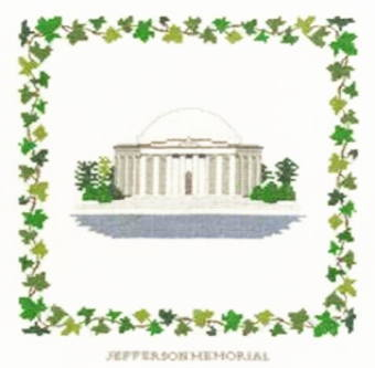【DM便対応】フレメ Jefferson memorial ジェファーソン記念館 10B クロスステッチ Haandarbejdets Fremme キット デンマーク 北欧 刺しゅう ギルド GB+IW 30-4517G