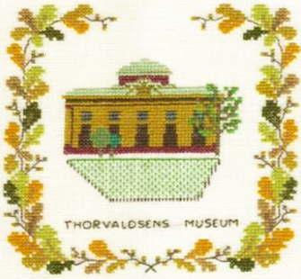 【DM便対応】フレメ Thorvaldsens museum トーヴァルセン美術館 12B クロスステッチ Haandarbejdets Fremme キット デンマーク 刺しゅう 北欧 ギルド GB+IW 17-5131,2