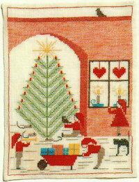 フレメクロスステッチ刺繍キット輸入クリスマスの庭HaandarbejdetsFremmeデンマーク北欧上級者EH30-6348
