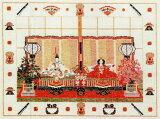 フレメ クロスステッチ輸入刺繍キット Japansk tehus 日本の茶室/雛祭り Haandarbejdets Fremme デンマーク刺繍 北欧 IW 30-5702 上級者