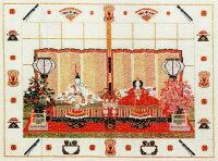 フレメクロスステッチ輸入刺繍キットJapansktehus日本の茶室/雛祭りHaandarbejdetsFremmeデンマーク刺繍北欧IW30-5702上級者