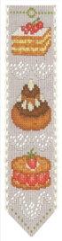 クロスステッチ刺繍キット輸入ル・ボヌール・デ・ダムLeBonheurdesDames刺しゅうMarquepagegateauxケーキのブックマークフランス初心者4578