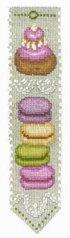 クロスステッチ刺繍キット輸入ル・ボヌール・デ・ダムLeBonheurdesDames刺しゅうMarquepageMacaronsマカロンのブックマーカーフランス初心者4569