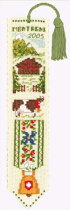 クロスステッチ刺繍キット輸入ル・ボヌール・デ・ダムLeBonheurdesDames山のブックマーカーMarque-pagemontagne刺しゅうフランス初心者4539