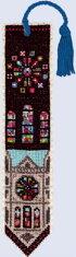 クロスステッチ刺繍キットル・ボヌール・デ・ダムLeBonheurdesDamesブックマーク/大聖堂の薔薇の窓Marque-pageRosesoftheCathedral刺しゅうフランス上級者4537