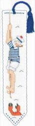 クロスステッチ刺繍キット輸入ル・ボヌール・デ・ダムLeBonheurdesDamesブックマーク/海洋カニMarque-pagemarin-crabe刺しゅうフランス初心者4555