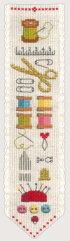 クロスステッチ刺繍キット輸入ル・ボヌール・デ・ダムLeBonheurdesDamesブックマーク/クチュールMarque-pageCouture刺しゅうフランス初心者4584
