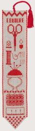 【DM便対応】ル・ボヌール・デ・ダムLeBonheurdesDamesブックマーク/縫製Marque-pagecoutureクロスステッチLinen半製品キット刺しゅうフランス4563