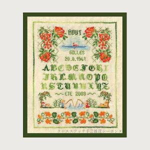 プチポワン刺繍キット ルボヌールデダム Le Bonheur des Dames 刺しゅう Miniature August ミニチュア8月 フランス 上級者 3632
