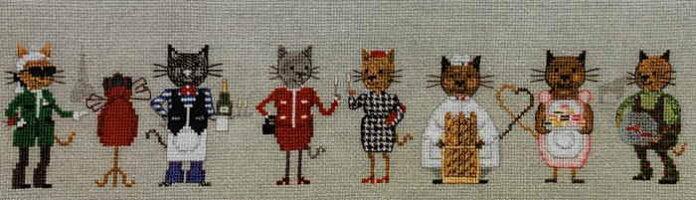 LeBonheurdesDamesクロスステッチ刺繍キット【パリに生まれ育った猫】ルボヌールデダムフランス上級者輸入1090