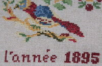 【DM便対応】RefletsdeSoie図案DominiqueBachelet1895クロスステッチIsabelleMazabraudKerlanチャートフランス刺しゅうRDS084
