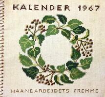 【中古】フレメ1967カレンダーGERDABENGTSSONゲルダ・ベングトソン図案HaandarbejdetsFremmeチャートKREUZSTITCHクロスステッチデンマーク北欧