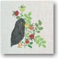 【DM便対応】BAHMANNバーマンSpassvogelschwarzimHerbst秋の鳥/黒10Bクロスステッチキットドイツ刺しゅう30-0020