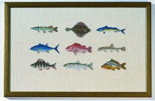 【DM便対応】BAHMANNバーマンFischeinPetitPointプチポワンの魚10Bプチポワンキットドイツ刺しゅう30-9007,01