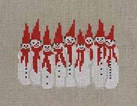 NadelFadenFantasieクロスステッチ刺繍キット【冷たい体のお友達】Bahmannバーマン輸入上級者30-9111
