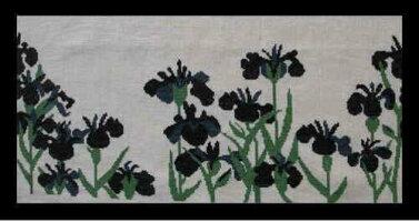 バーマン(NadelFadenFantasie)クロスステッチ刺繍キット【アイリス】Bahmann輸入ドイツ上級者30-9141