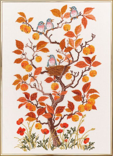 EVA ROSENSTAND クロスステッチ刺繍キット 輸入 秋 Autumn デンマーク 北欧 上級者 14-253
