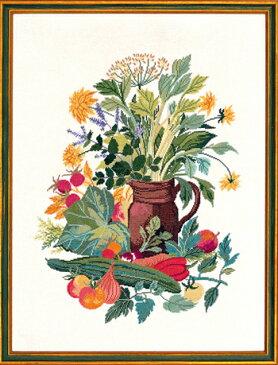 【送料無料】EVA ROSENSTAND キッチンハーブ kitchen Herbs クロスステッチ キット デンマーク 北欧 刺しゅう 98-4385