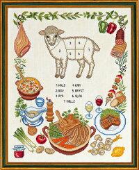 クロスステッチ刺繍キット輸入EVAROSENSTAND羊Lamデンマーク北欧刺しゅう上級者12-836