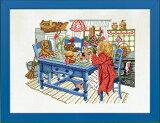 EVA ROSENSTAND 朝食のテーブルと女の子 Pige ved morgenbord クロスステッチ キット デンマーク 北欧 刺しゅう 14-101