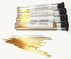 クロスステッチ針ペルミンSize26(金メッキ)20本入りデンマーク製PERMIN6100-26