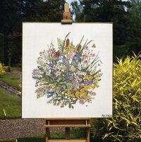 ペルミンクロスステッチ刺繍キット輸入Waterflowers水生植物PerminofCopenhagenデンマーク北欧上級者70-7300
