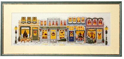 クロスステッチ刺繍キットペルミンJulestemningクリスマスストリートPerminofCopenhagenデンマーク北欧上級者70-4225