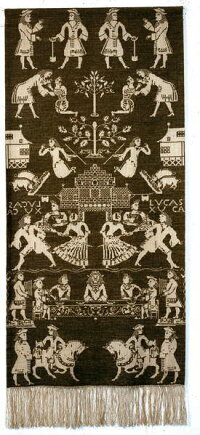PerminofCopenhagen(ぺルミン)【Beidewandblue】刺繍キット輸入上級者北欧デンマーク90-1013